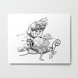 Grindin' Marijuana Weed art illustration Metal Print
