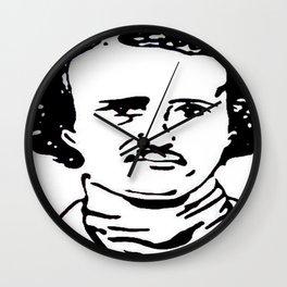 Edgar Allan Poe Black and White Portrait Poet Witter   Wall Clock
