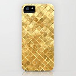 Gold Squares iPhone Case