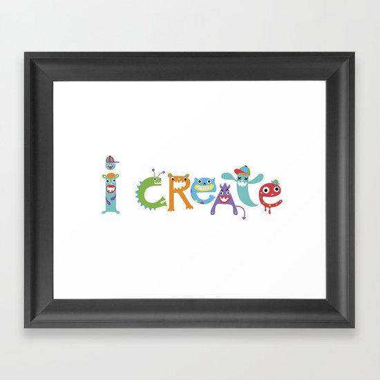 I Create Critters Framed Art Print
