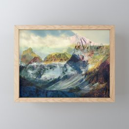 Mountain landscape digital art Framed Mini Art Print
