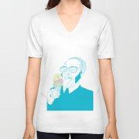 ice cream V-neck T-shirts featuring ice cream by bEn HaYwArD