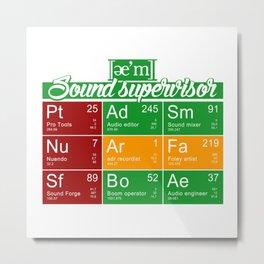 ae'm Sound supervisor Metal Print