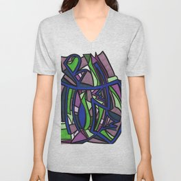 Beyond Graffiti Style Drawing Unisex V-Neck