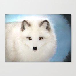 Inquisitive Arctic Fox Canvas Print