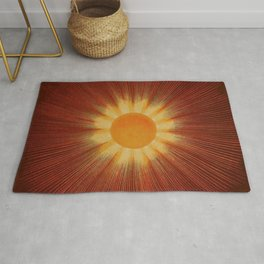 Celestial Red Sun Tapestry Astronomical Atlas portrait painting by Joseph Spoor Rug