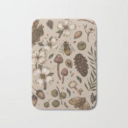 Nature Walks (Light Background) Bath Mat