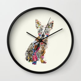 the mod chihuahua Wall Clock