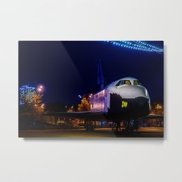 Soviet Space Shuttle Mockup In Gorky Park At Winter Night Metal Print