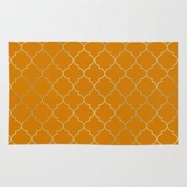 Turmeric Yellow & Gold Quatrefoil Rug
