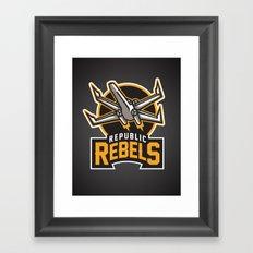 Republic Rebels - Black Framed Art Print