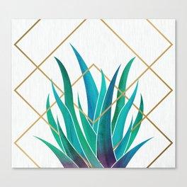 Modern Succulent - metallic accents Canvas Print