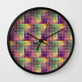 Checker colorful digital pattern Wall Clock