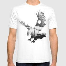 THE EAGLE AND THE FOX Mens Fitted Tee MEDIUM White