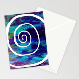 White Spiral S49 Stationery Cards