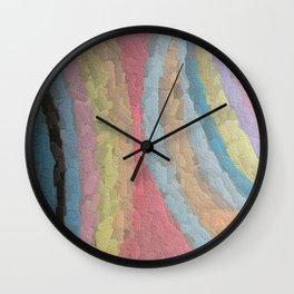Embossed Chalk Wall Clock