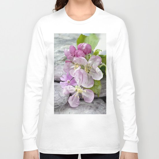 Appleblossom and shell still life Long Sleeve T-shirt