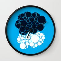 fault in our stars Wall Clocks featuring The Fault In Our Stars by karifree