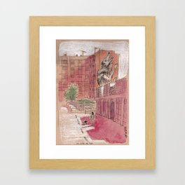 La louve de Roa - Rome, Nuovo mercato di Testaccio Framed Art Print
