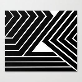 Modern Me Plain Black Canvas Print