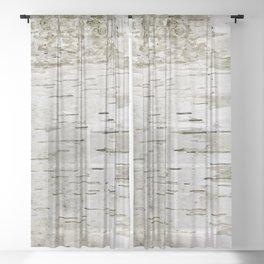 Birch Bark Skin Sheer Curtain