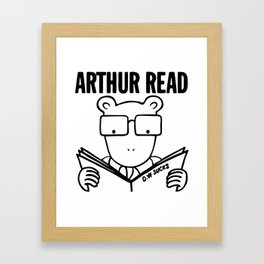 Arthur Read x The Descendents D.W Sucks Framed Art Print