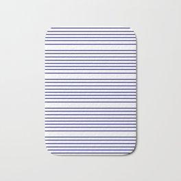 Mariniere marinière – classical pattern 2 Bath Mat