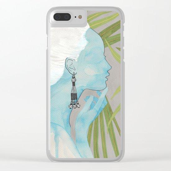 girls with silver jewelry / palmiye II Clear iPhone Case