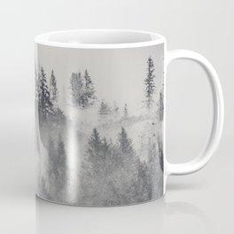 Black and White Charcoal Fog Forest Coffee Mug