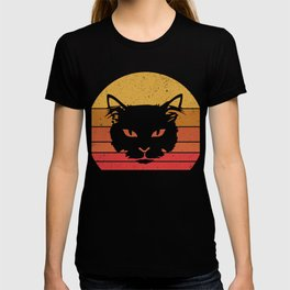 Vintage Eighties Style Cat T-Shirt Retro Cat Tee T-shirt