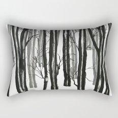 wood and snow Rectangular Pillow