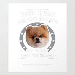 Pomeranian Shirt Art Print