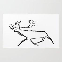 Ewenk deer carved on wood Rug
