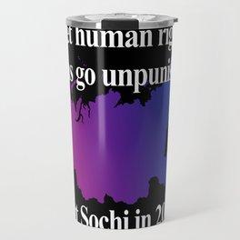 Boycott Sochi - Bisexual Flag Gradient Travel Mug