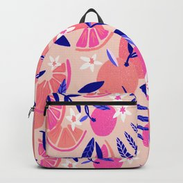 Orange Blooms – Indigo & Pink Backpack