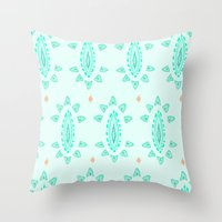 emerald Throw Pillows featuring Emerald by Laela's Heart