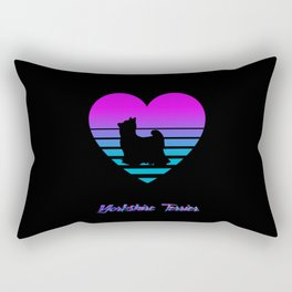 Yorkshire Terrier Love Cyberpunk Vaporwave Dog Puppy Gift Rectangular Pillow