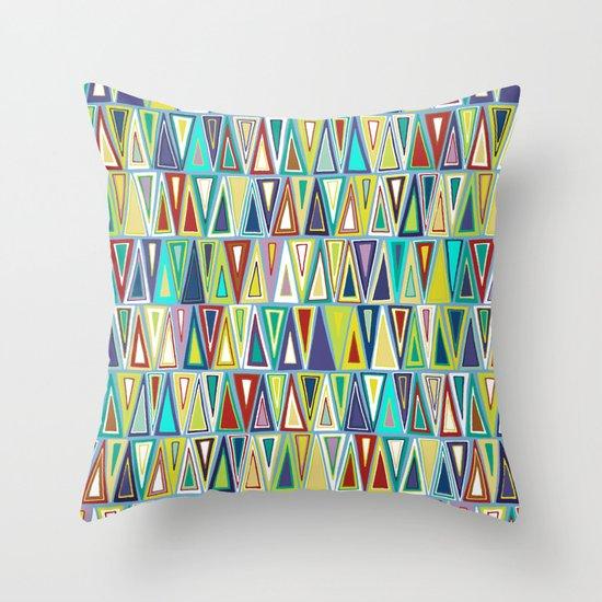dusk triangles Throw Pillow