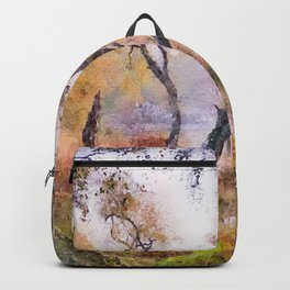 Scottish forest watercolor painting #9 Backpack