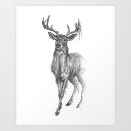 The Fleeting Deer Art Print