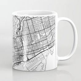 Toronto Map White Coffee Mug