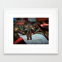 lobster Framed Art Prints featuring Lobster by DanByTheSea