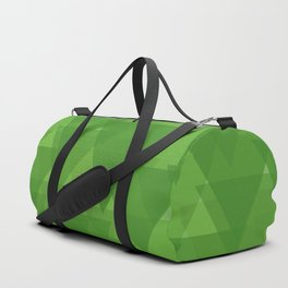 Gentle green triangles in intersection and overlay. Duffle Bag