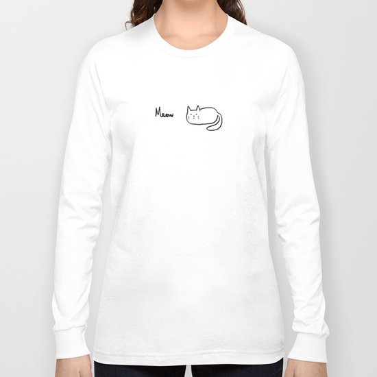 Cat lover meow meow Long Sleeve T-shirt
