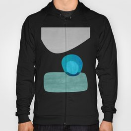 Stacking Pebbles Blue Hoody