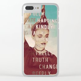 Words to Live By Clear iPhone Case
