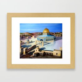 Dome of the rock-JERUSALEM Framed Art Print
