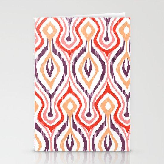 Sketchy Ikat - Nebula Stationery Cards