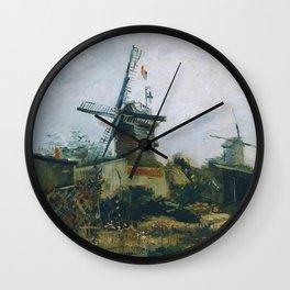 Vincent Van Gogh - Le Moulin de Blute Fin Wall Clock