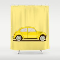 vw Shower Curtains featuring VW by Robert Gustafsson